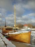 port jachtowy w okowach lodu