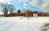 Kołobrzeg, fort Schilla zimą