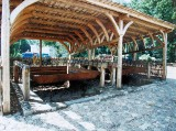 rekonstrukcja warzelni soli na Wyspie Solnej